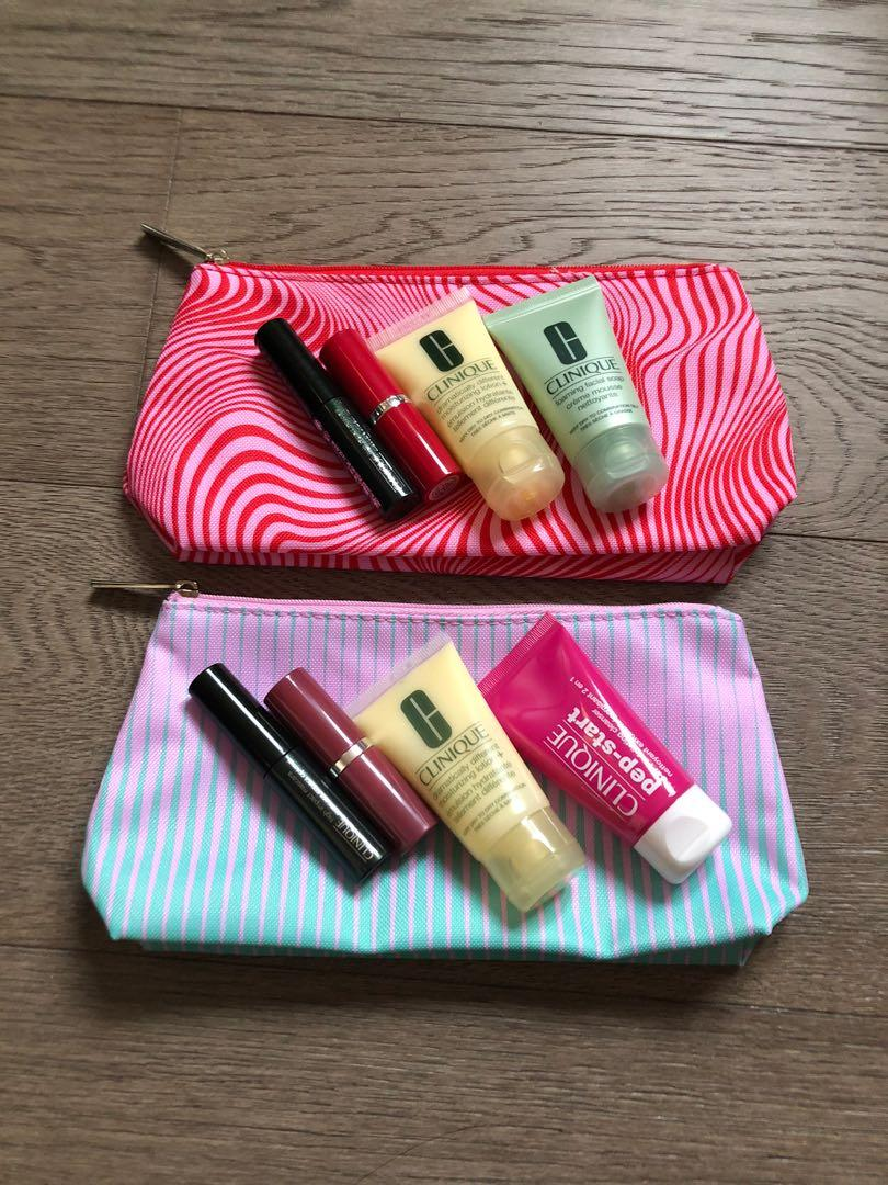 Clinique Makeup/ Skincare Set with Makeup Bag for Sale!