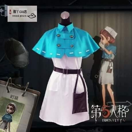 👩🏻⚕️EMILY DYER THE DOCTOR IDENTITY V GAME COSPLAY COSTUME WOMEN FASHION👩🏻⚕️