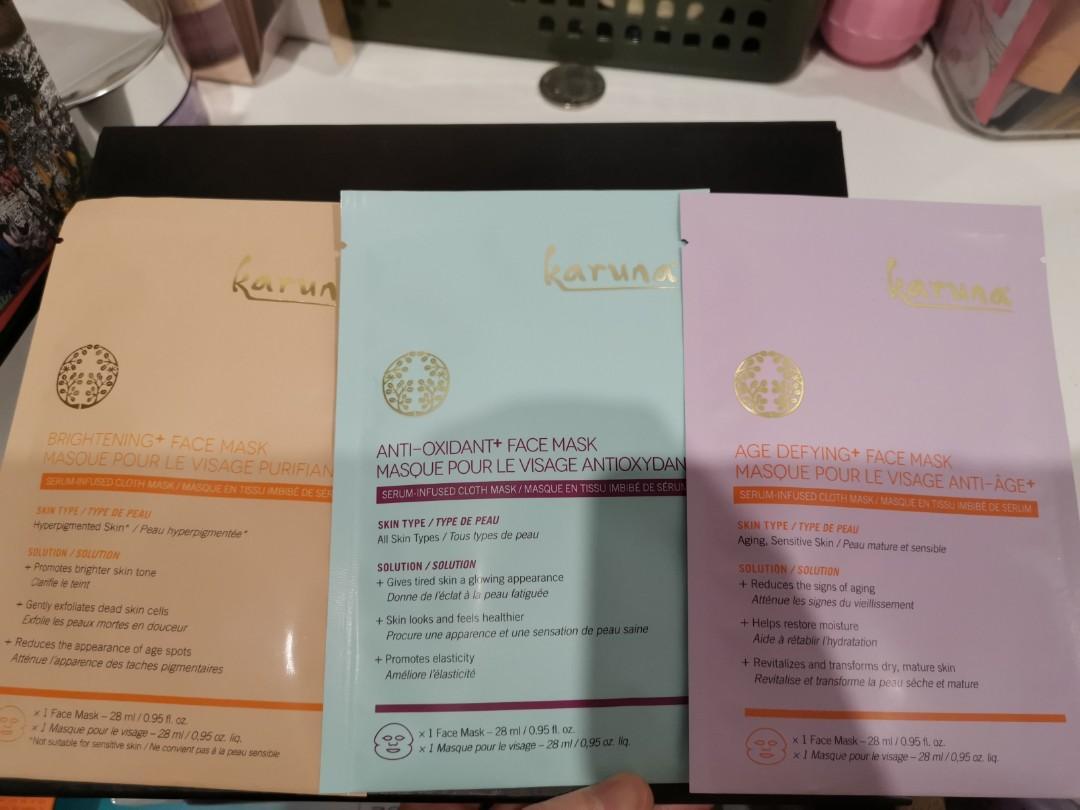 Karuna facial mask , brightening , ani-oxidant and age defying