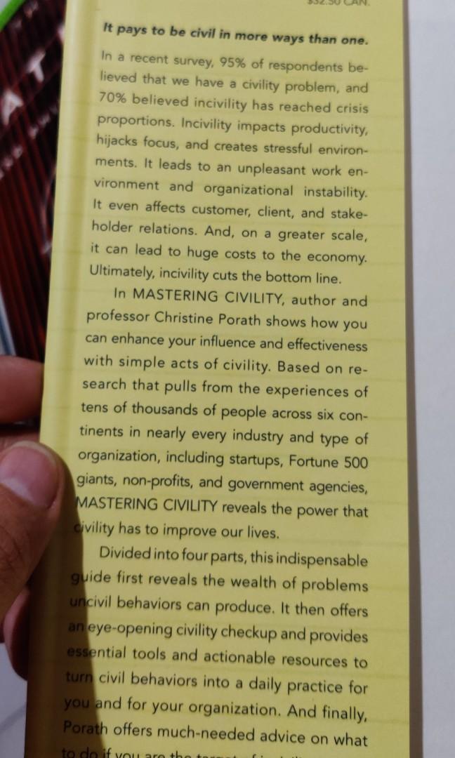 Mastering Civility (Self Help, Organization, Communication, Personality Development)