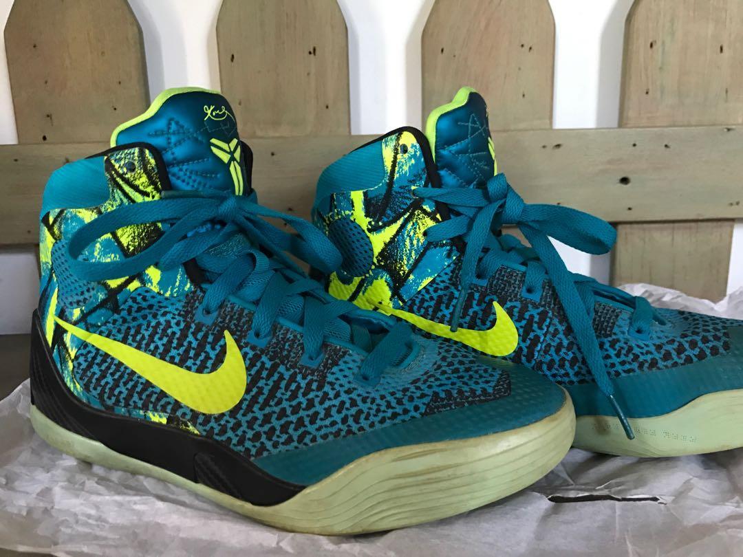 Nike Kobe 11 Perspective High cut 6y GS Cyan, Men's Fashion ...