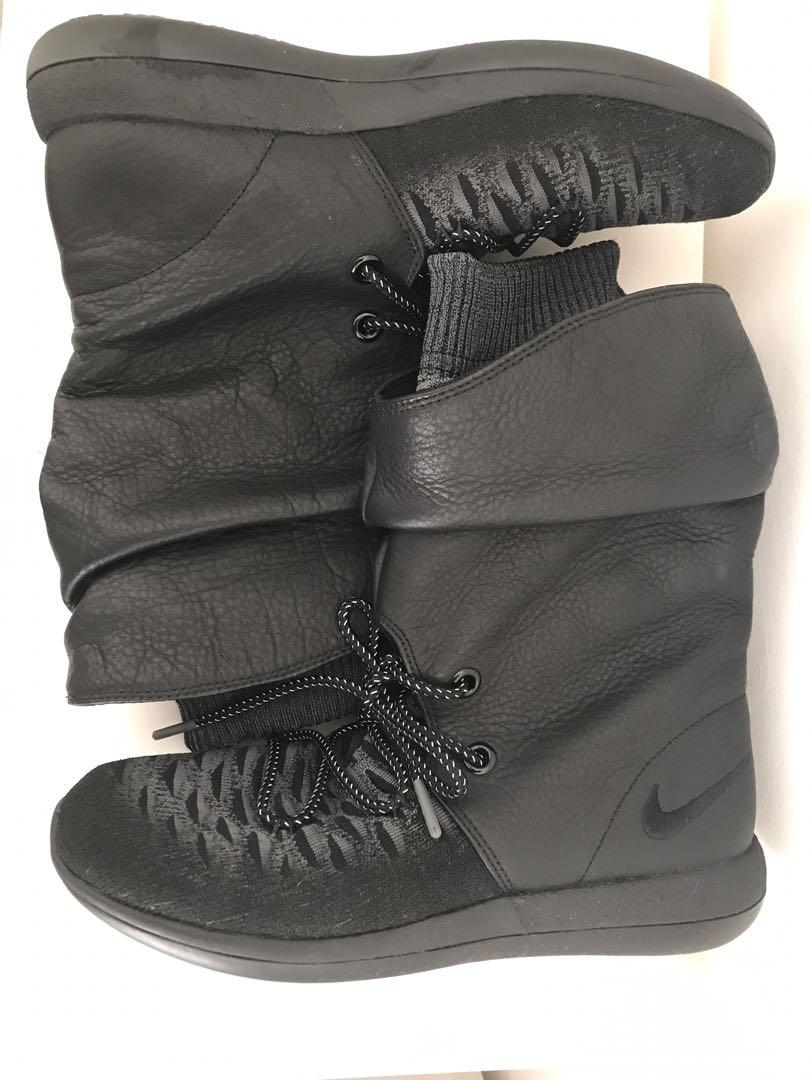 Nike roshe two hi Flyknit sneaker boot leather rare size USA 8.5