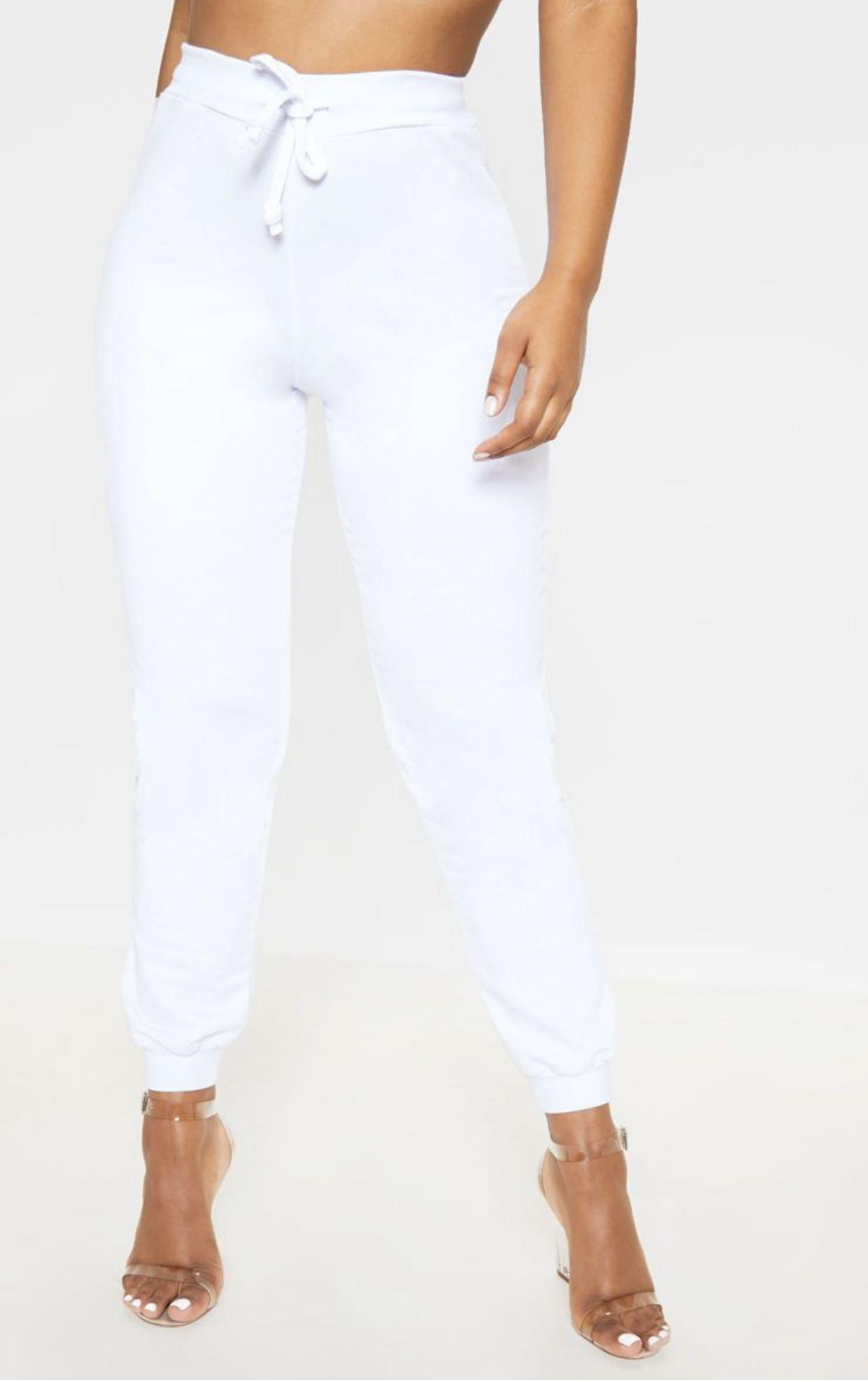 Pretty Little Thing | White Joggers