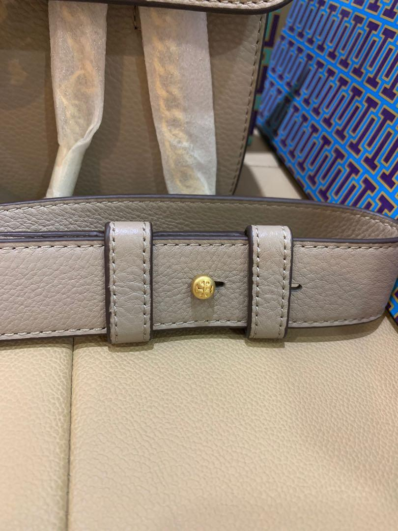 Ready Stock authentic Tory Burch chelsea medium with dual strap grey
