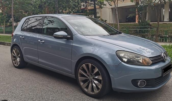 Volkswagen Golf 1.4 TSI for rent Grab go jek tada