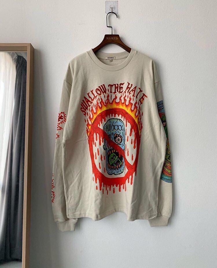 Yeezy season6 x xxxtentation sweatshirt