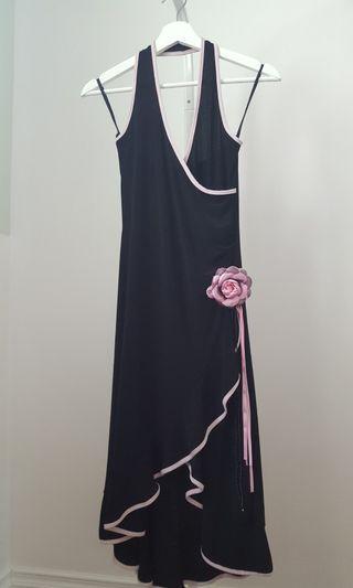Black Prom/ Gala/ Cocktail Halter Dress