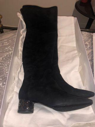 Authentic dior thigh high boots