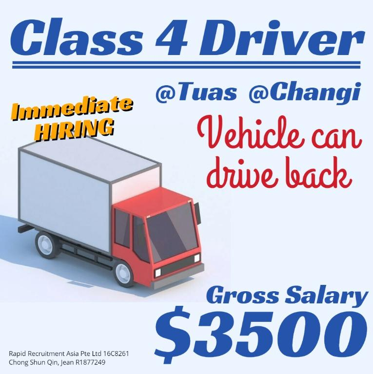 10x CLASS 4 DELIVERY DRIVER 🚚 (Gross $3500 / IMMEDIATE) JQ