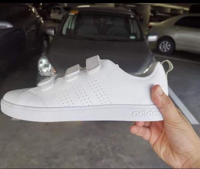 Adidas White Advantage Clean Velcro