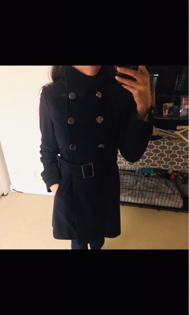 "Aritzia Talula Babaton ""Bromley"" Wool & Cashmere Double Breasted Coat"