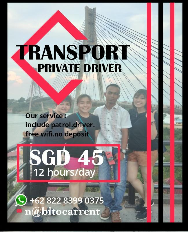 Batam Private driver.Transport service.                      https://wa.me/6282283990375