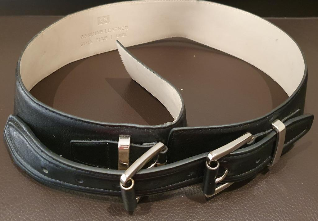 Cue Leather Large Size (12-14) Belt with Silver Buckle