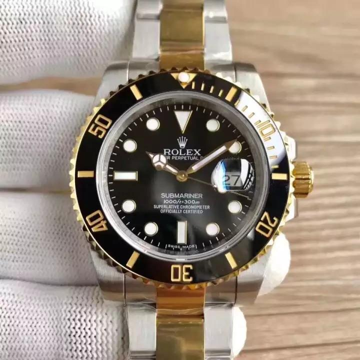 💥FREEGIFT SNEAKER💥[PRE-ORDER] Submariner Black 18k Gold Ceramic Bezel 18k Yellow Gold 3135.Swiss.Engine N ( ETA 7-14 Days )