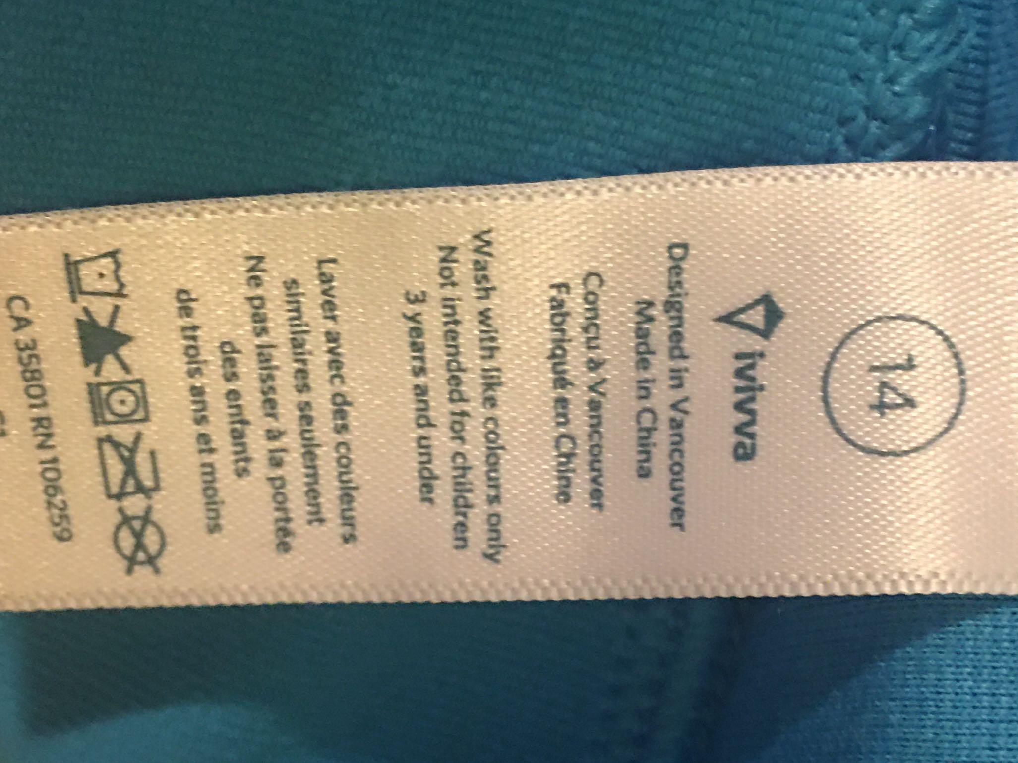 Ivivva Lululemon Blue Ballet Dance Anywhere Leotard
