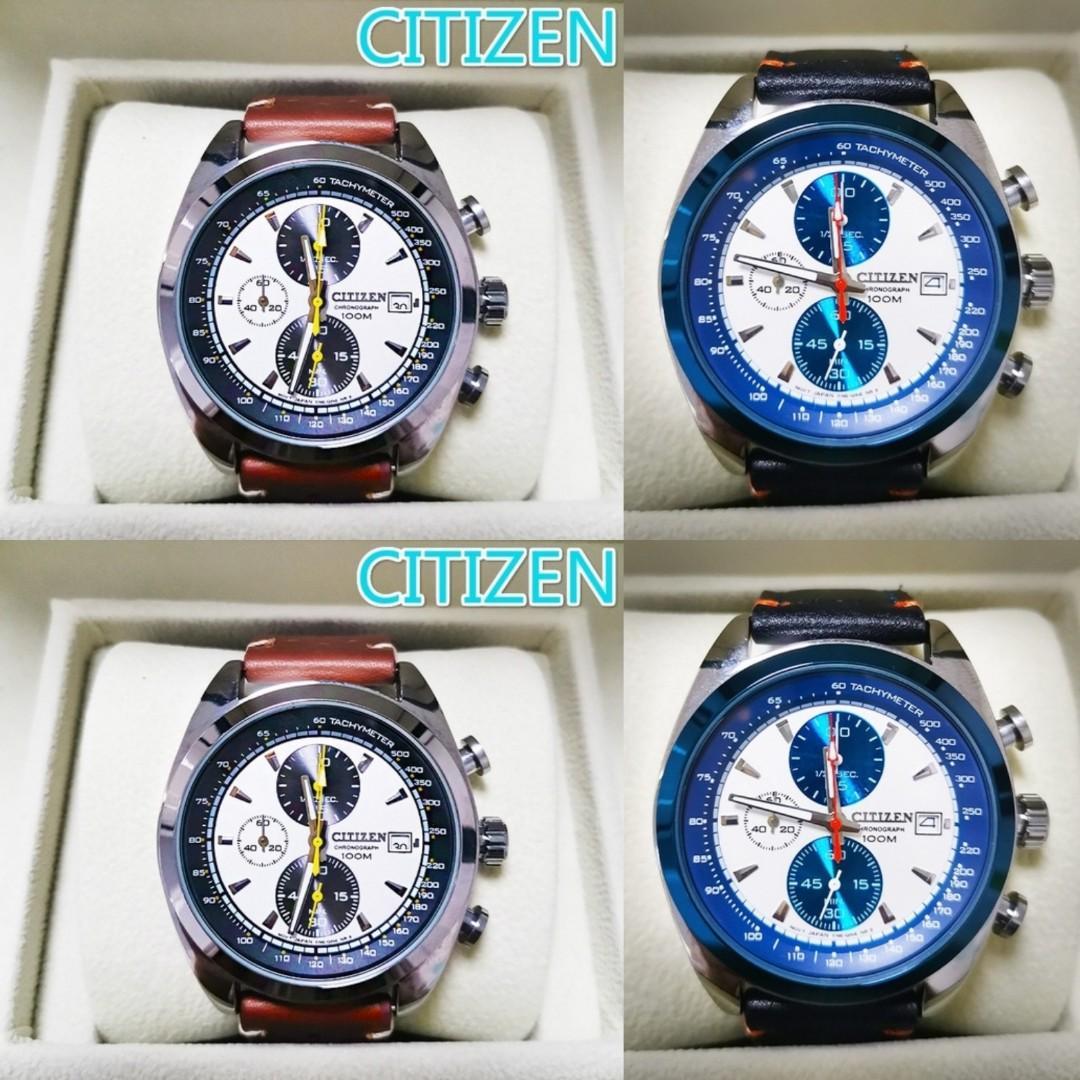 Mens Citizens Automatic Quartz Watch Blue Angels World Chronograph
