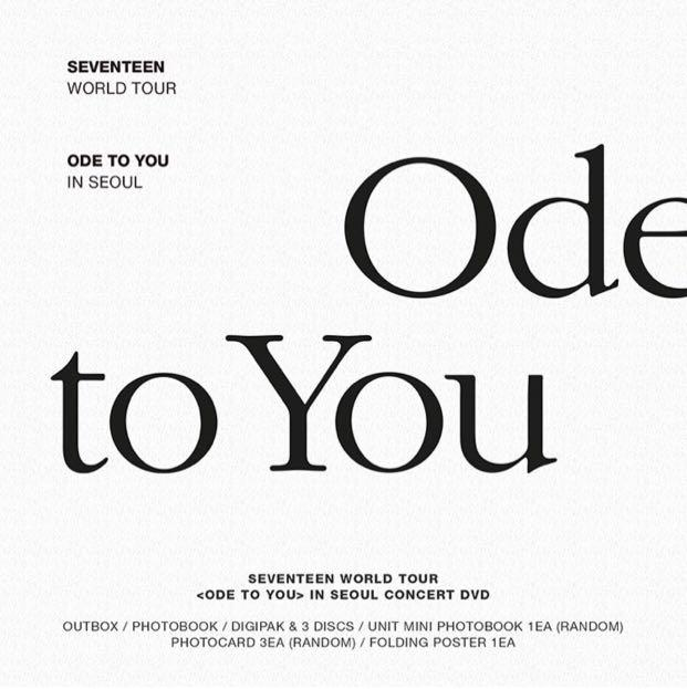 [PREORDER] SEVENTEEN - ODE TO YOU IN SEOUL CONCERT DVD