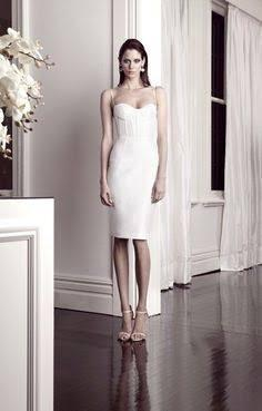 PRE-OWNED Alex Perry Size 14 Cream White Bustier 'Venus' Dress