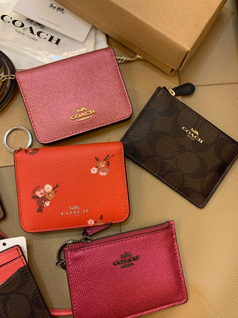 Ready stock authentic coach women chirstmas gift lanyard card holder last minute Tory Burch Tory Burch