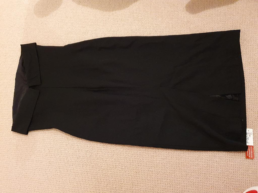 Vintage Black Jean Paul Gaultier Strapless Pencil Dress Sz 10 UK