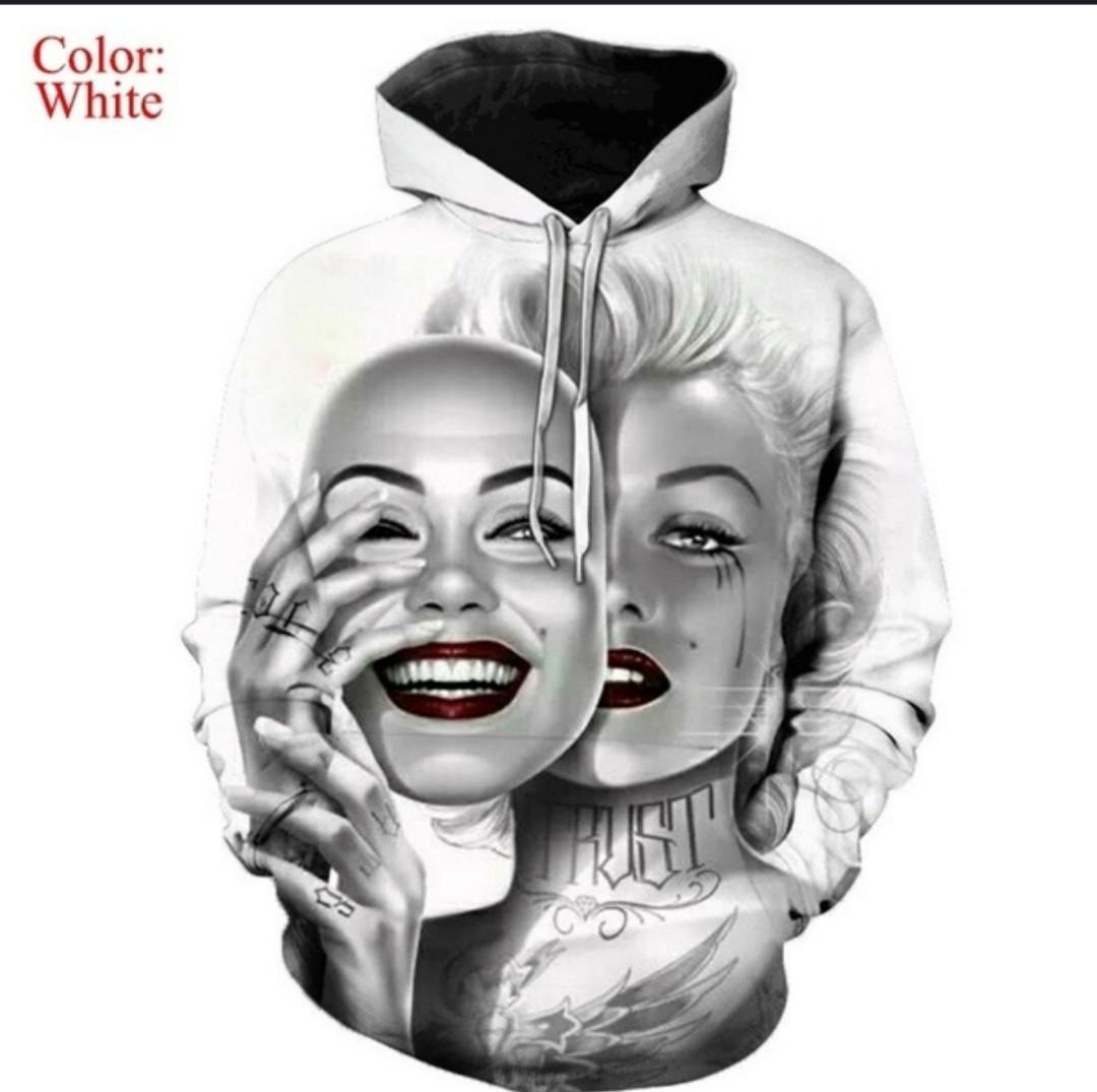 Womens Oversized Marilyn Monroe 3D Print Hoodie Womens