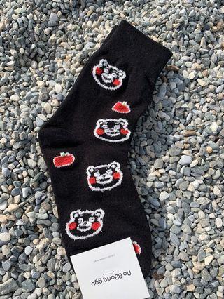 韓製熊本熊中筒襪