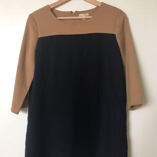 GAP colorblock mini dress