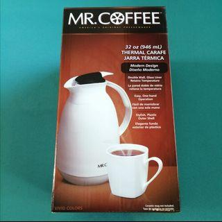 🆕 Mr Coffee Thermal Carafe - White Double Wall  32oz
