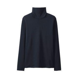 Uniqlo Cotton Turtleneck (black)