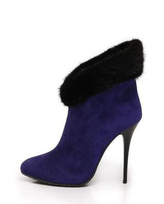 Giuseppe Zanotti suede boots with faux fur