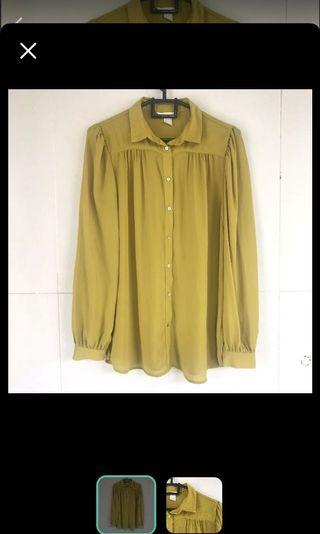 H&M blouse mustard
