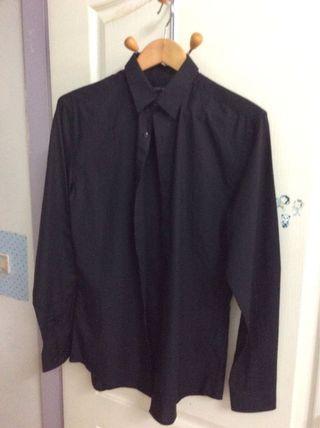 專櫃襯衫黑、白紋、藍灰紋