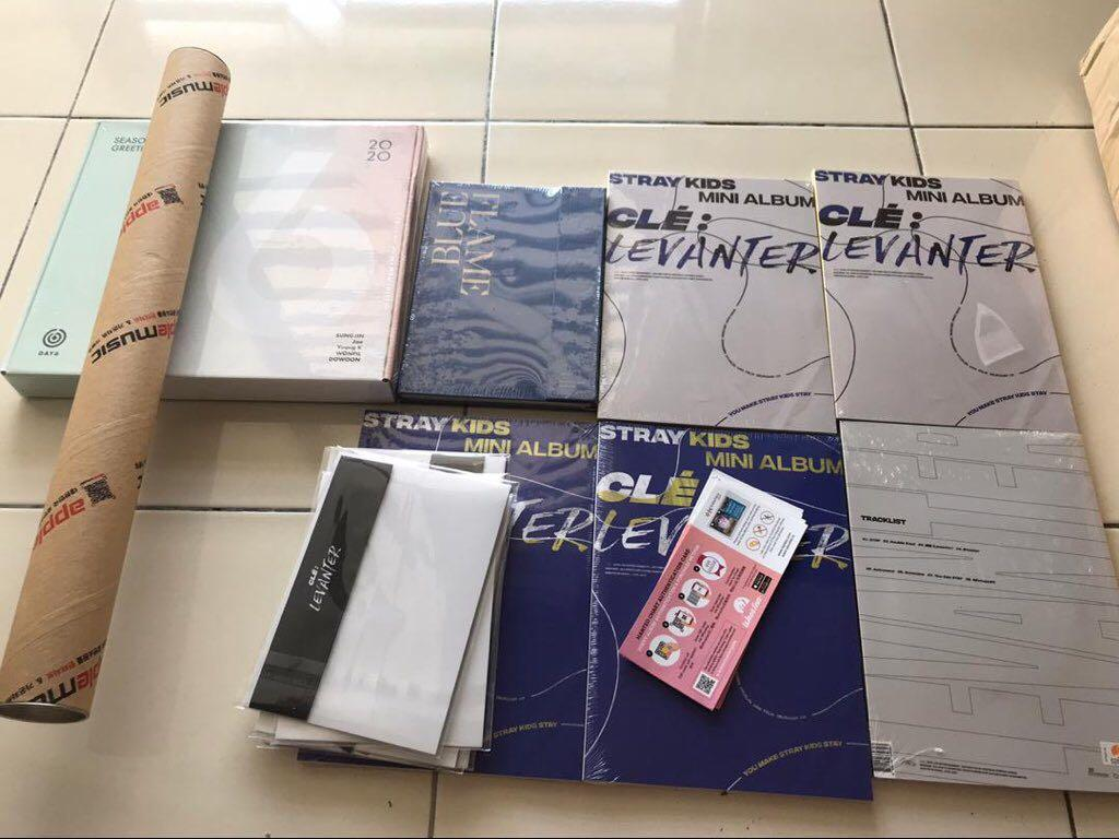 [ SoulyArrival ] STRAY KIDS LEVANTER, DAY6 SEASONS GREETINGS AND ASTRO BLUE FLAME ALBUMS ARE HERE