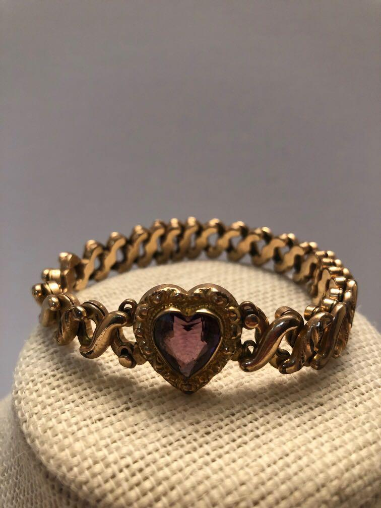Antique Art Deco  Sweetheart gold filled  bracelet