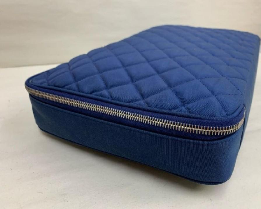 AUTHENTIC CHANEL LARGE CASE / VANITY POUCH BAG- NYLON CANVAS - (SIZE 37X23 CM APPROX) - WITH AUTHENTICITY CARD - GOOD CONDITION-