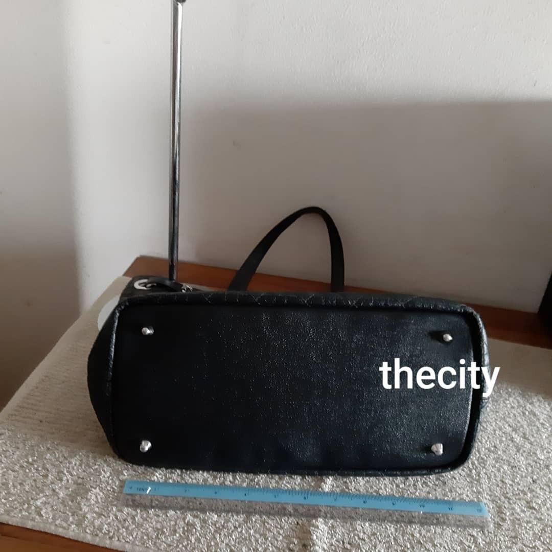AUTHENTIC DIOR MEDIUM PANAREA SHOULDER BAG- BLACK COLOR- SILVER HARDWARE- CHARMS INTACT,  VERY CLEAN INTERIOR - GOOD CONDITION - (DIOR PANAREA BAGS RETAIL AROUND RM 5000+)