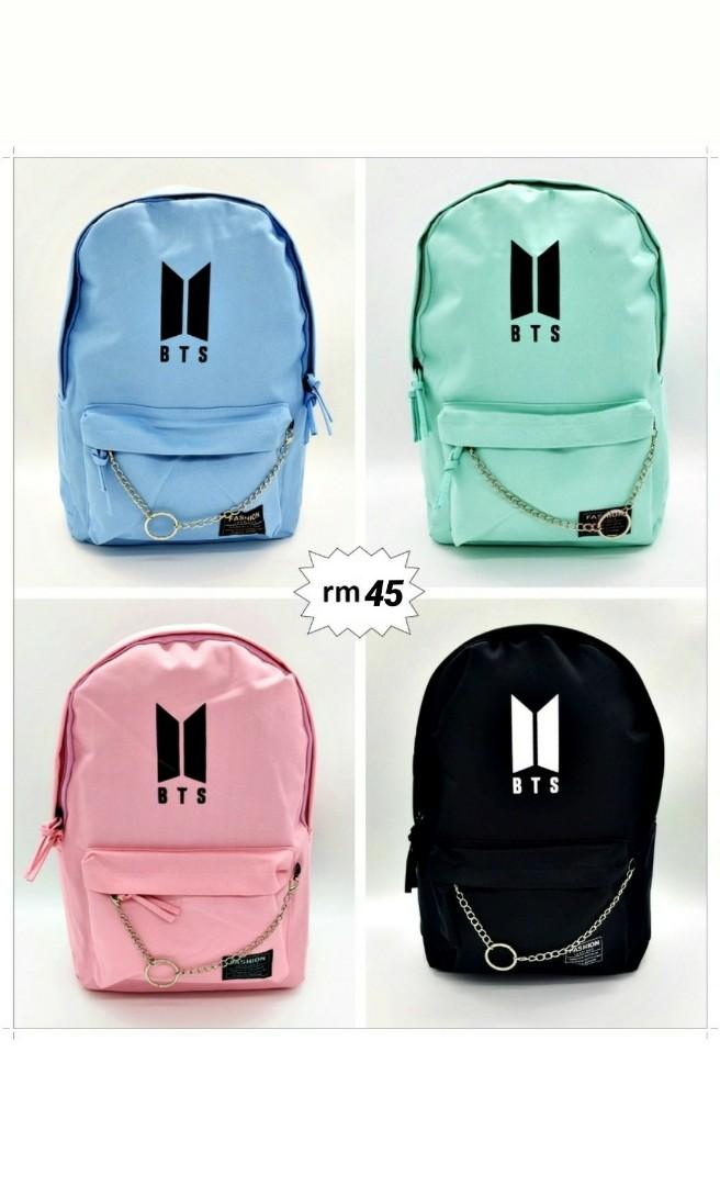 Back to school edition!  Bts Army Bag pack School Bag READY STOCK
