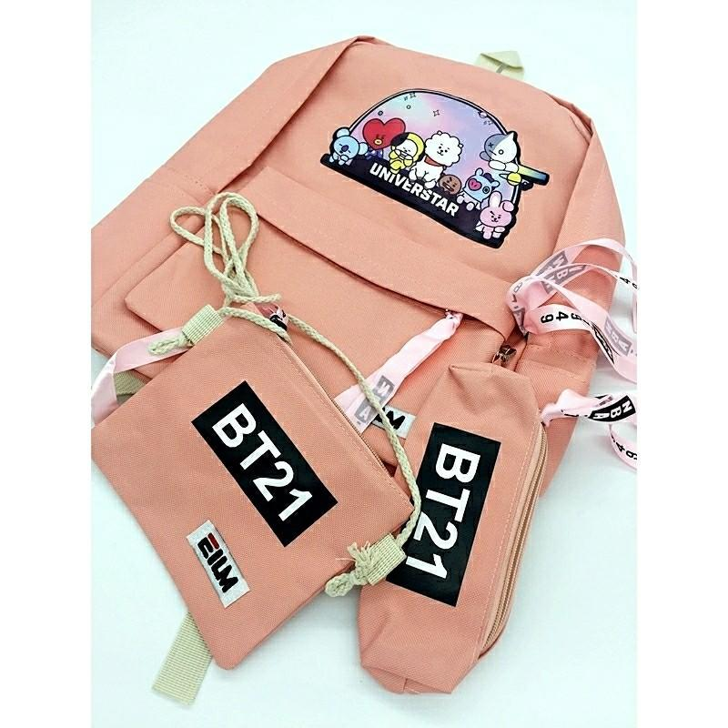 Back to school edition! Bts Army Bt21 Back pack School Bag READY STOCK