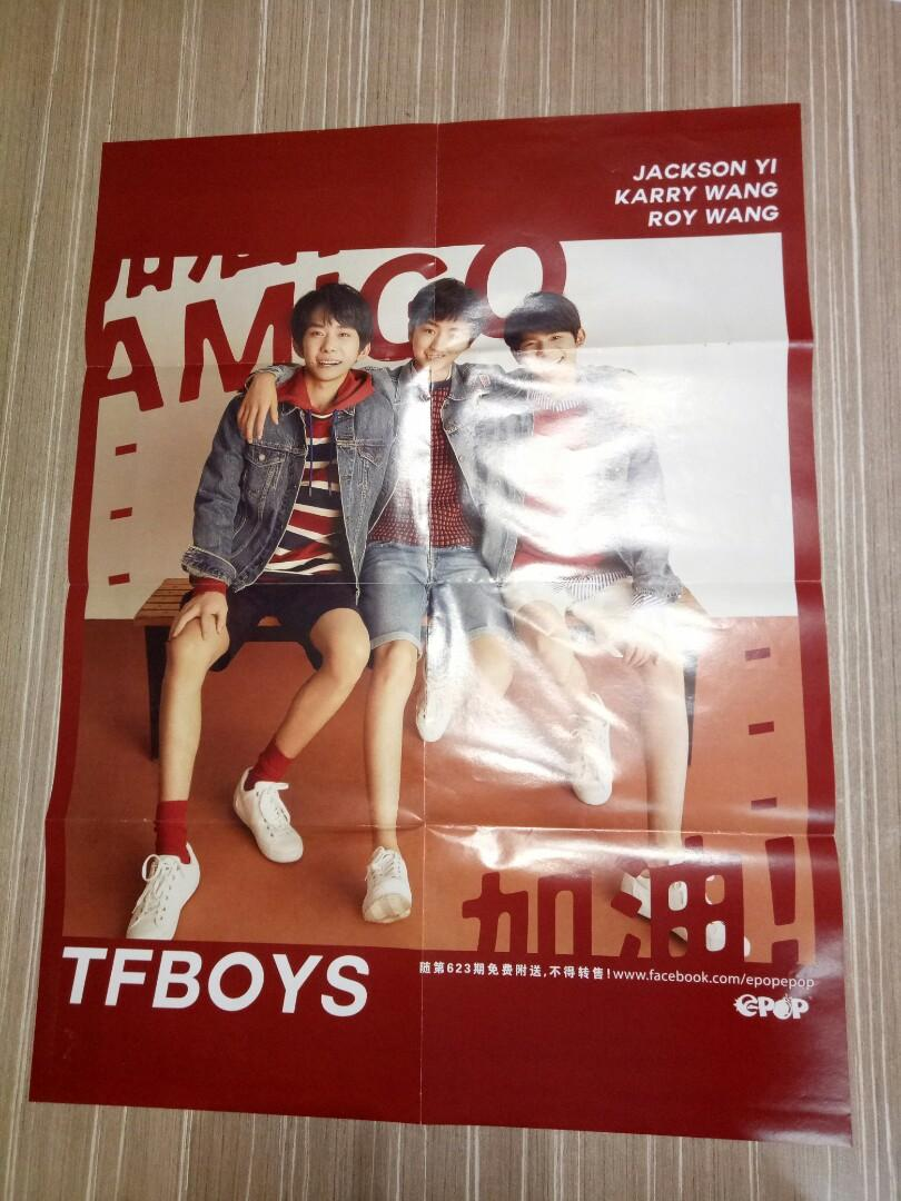 BLACKPINK <As if its your last> / TFBOYS double page poster