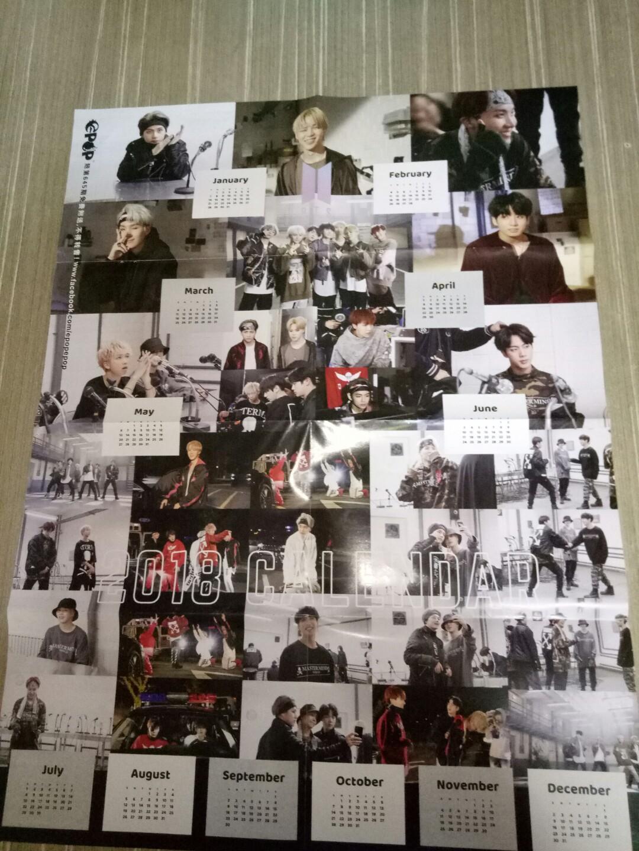 BTS CALENDAR <MIC DROP> / TFBOYS CALENDAR double page poster