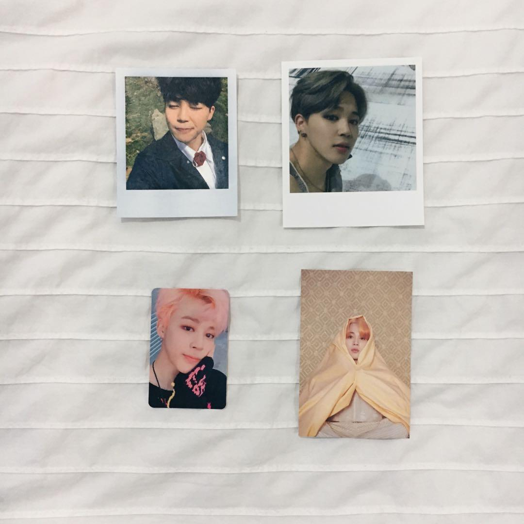 WTS [BTS JIMIN OFFICIAL PC] Young forever, Wings, YNWA, and MOTS photocard
