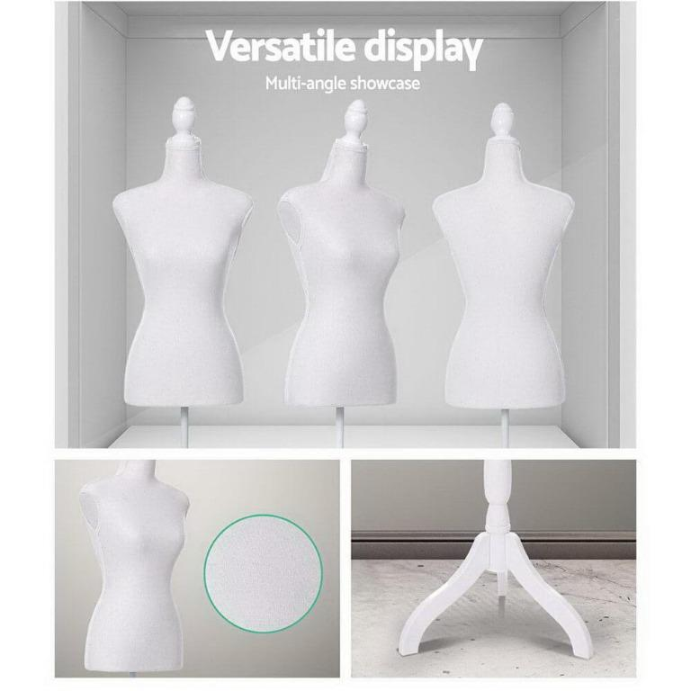 Female Mannequin 170cm Model Dressmaker Clothes Display Torso Tailor Wedding White