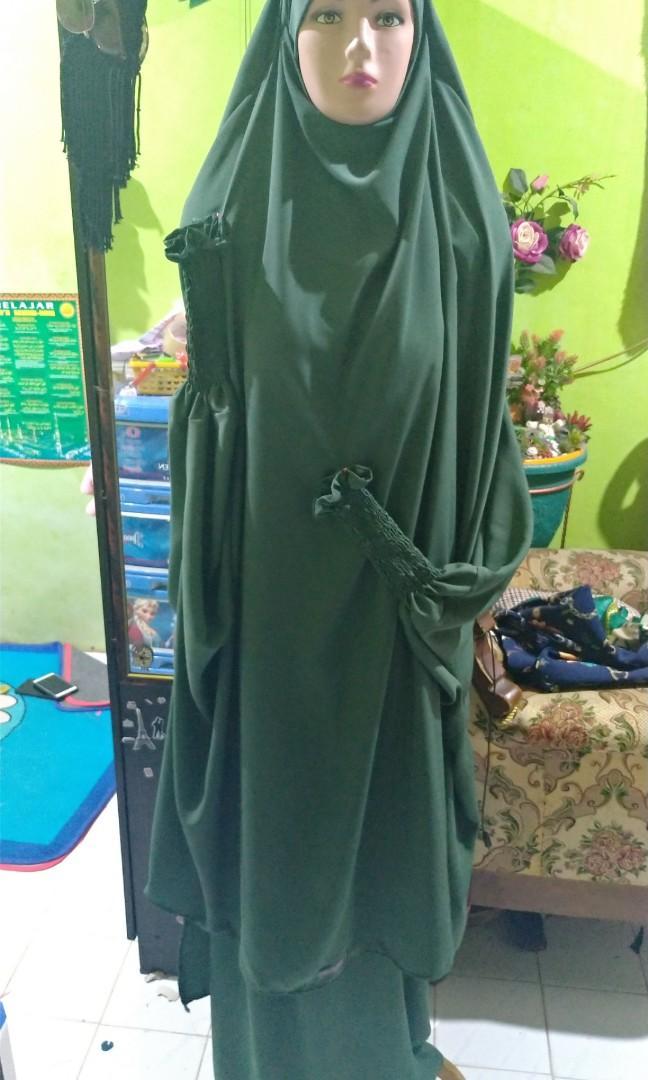 French Khimar Set Rok By Putri Azzahrah Fesyen Wanita Muslim Fashion Lainnya Di Carousell