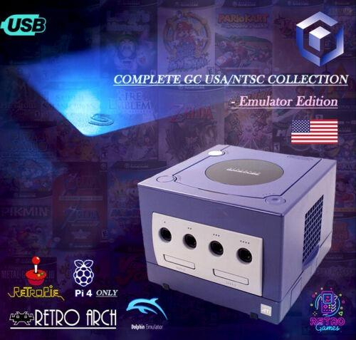Gamecube Collection Complete USA/NTSC - 1TB Hard Drive ~ Raspbery/RetroPi 4 & PC