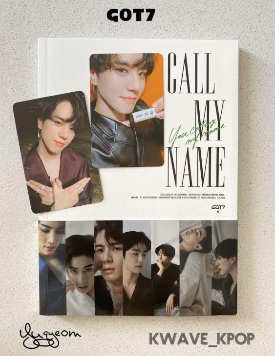 GOT7 (CALL MY NAME) Kpop New Album Version D - CD +Photo Book +2P YUGYEOM Photo Cards