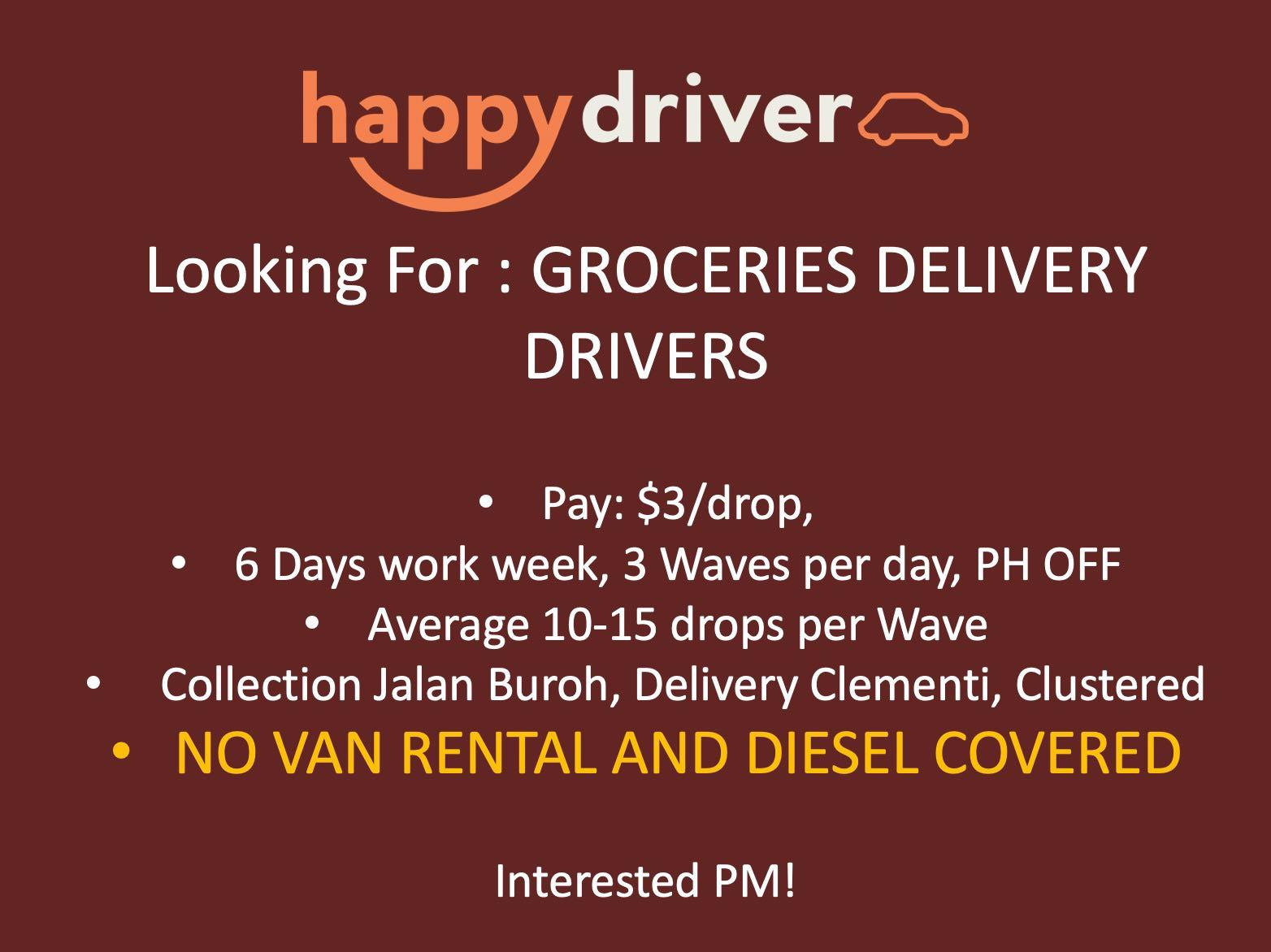 Grocery delivery driver