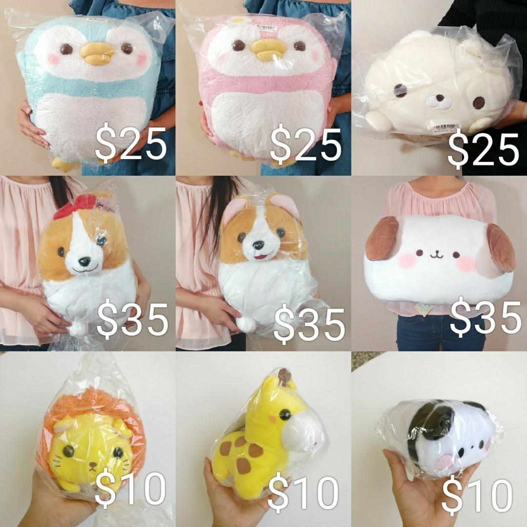 High quality plushies, stuffed toys from Japan! Pokemon, Gudetama, etc.