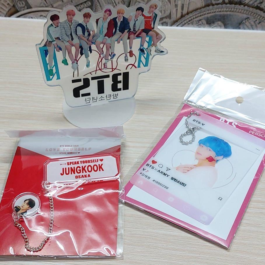 (ITEM ARRIVAL) BTS STAND / Love Yourself Brooch / Clear Photocard