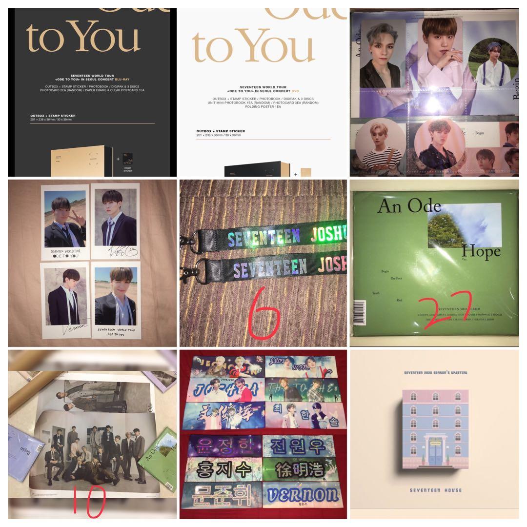 kpop seventeen official merchandise ode to you an ode album poster slogan