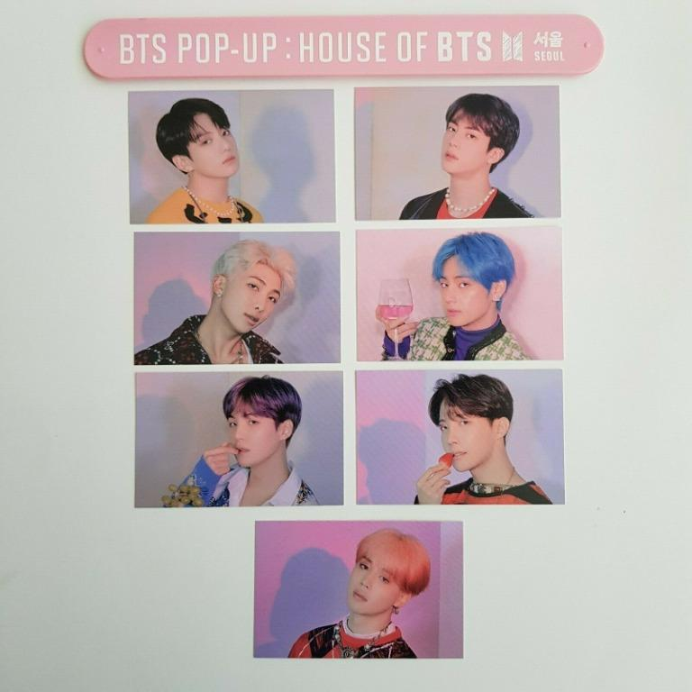 LIMITED BINGO PHOTO CARD Loose Member - POP-UP STORE / HOUSE OF BTS OFFICIAL
